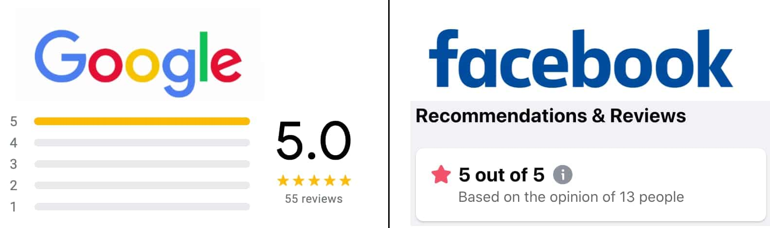 five star reviews google facebook muench